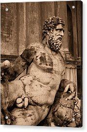 Sculpture Vatican Museum Rome Italy Acrylic Print by Wayne Higgs