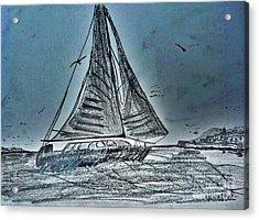 Seascape Sailing Acrylic Print by Scott D Van Osdol