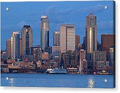 Seattle Acrylic Print by Evgeny Vasenev
