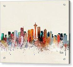 Seattle Skyline Acrylic Print by Bri Buckley