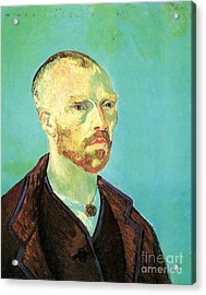 Self-portrait Dedicated To Paul Gauguin Acrylic Print by Vincent Van Gogh