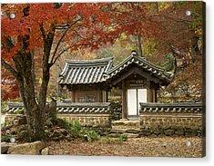 Seonamsa In Autumn Acrylic Print