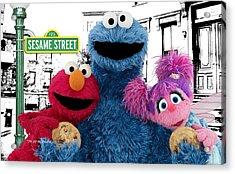 Sesame Street Acrylic Print