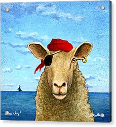 Acrylic Print featuring the painting Sheep Ahoy by Will Bullas