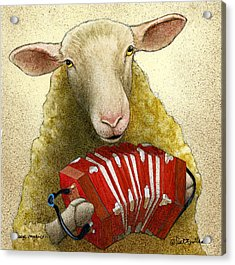 Acrylic Print featuring the painting Sheep Music... by Will Bullas