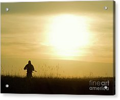 Silhouette Of Soldier Acrylic Print