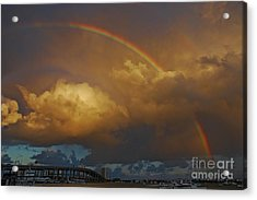 Acrylic Print featuring the photograph 2- Singer Island Stormbow by Rainbows