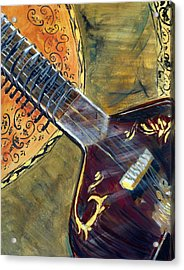 Acrylic Print featuring the painting Sitar 1 by Amanda Dinan