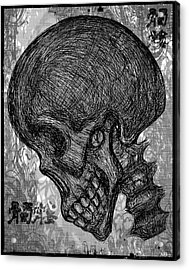 Gothic Skull Acrylic Print