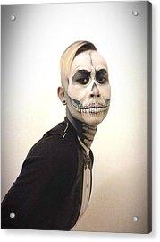 Skull And Tux Acrylic Print