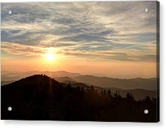 Smoky Mountain Sunset Acrylic Print