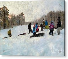 Snow Day Acrylic Print by Claire Bull