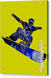 Snowboarder Collection Acrylic Print by Marvin Blaine