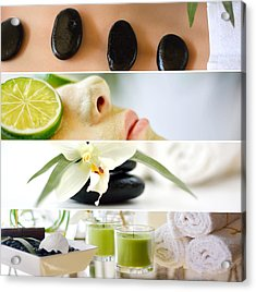 Spa Collage Acrylic Print by Serena King
