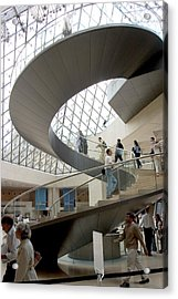 Spiral Staircase By I.m. Pei Acrylic Print by Carl Purcell