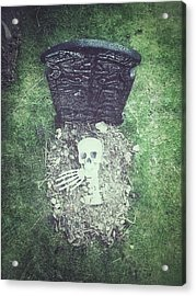 Spooky Grave Stones Acrylic Print