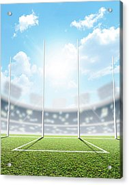 Sports Stadium And Goal Posts Acrylic Print