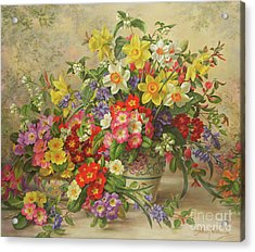 Spring Flowers And Poole Pottery Acrylic Print