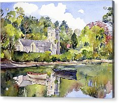 St Just In Roseland Church Acrylic Print