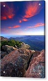 St Mary Peak Sunrise Acrylic Print by Bill  Robinson