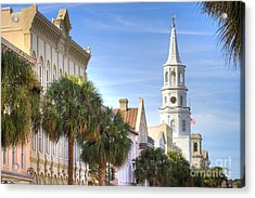 St Michaels Church Charleston Sc Acrylic Print by Dustin K Ryan