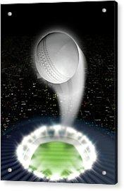 Stadium Night With Ball Swoosh Acrylic Print