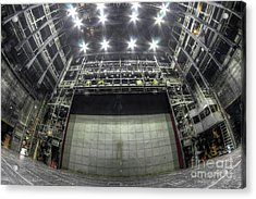 Acrylic Print featuring the photograph Stage In The Abandoned Theatre by Michal Boubin