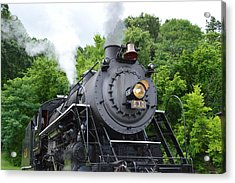 Steam Engline Number 630 Acrylic Print by Linda Geiger
