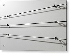 Steel Cable Display Wall Acrylic Print by Allan Swart