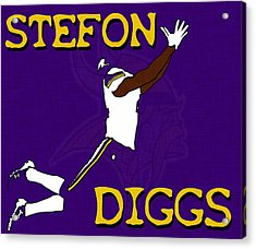 Stefon Diggs Acrylic Print by Kyle West