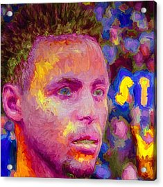 #stephcurry #curry #goldenstatewarriors Acrylic Print