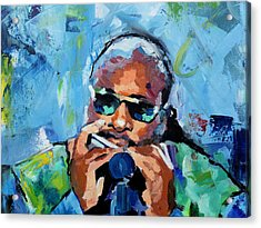 Acrylic Print featuring the painting Stevie Wonder by Richard Day