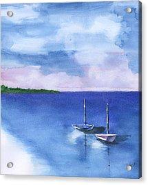 2 Still Boats Acrylic Print