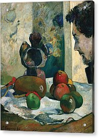 Still Life With Profile Of Laval Acrylic Print