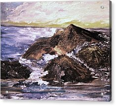 Acrylic Print featuring the painting Stones In The Ocean by Evelina Popilian