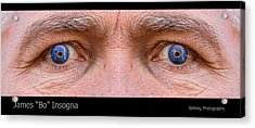 Stormy Angry Eyes Acrylic Print by James BO  Insogna