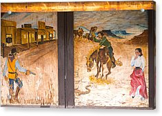 Acrylic Print featuring the photograph Street Art - Melba, Id by Dart and Suze Humeston