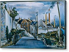 Street In Quebec Acrylic Print by Celestial Images