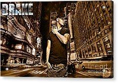 Street Phenomenon Drake Acrylic Print by The DigArtisT