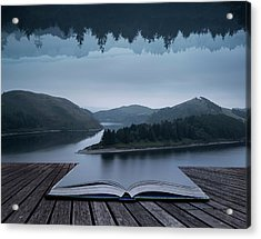Stunning Impossible Puzzling Conceptual Landscape Image Of Lake  Acrylic Print by Matthew Gibson