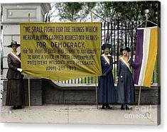 Acrylic Print featuring the photograph Suffragettes, 1917 by Granger