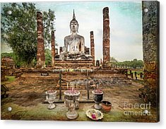 Acrylic Print featuring the photograph Sukhothai Buddha by Adrian Evans