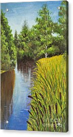 Summer Landscape, Painting Acrylic Print