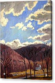 Sunny Autumn Berkshires Acrylic Print by Thor Wickstrom