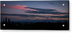 Sunrise And The Alaska Range Acrylic Print