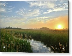 Sunrise At Glacial Park Acrylic Print