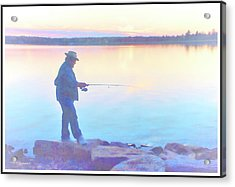 Sunrise Fisherman Acrylic Print