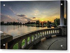 Sunrise In The Park Acrylic Print