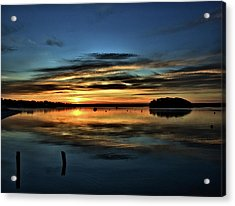 Sunrise Onset Pier Acrylic Print