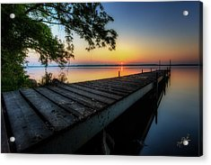 Sunrise Over Cayuga Lake Acrylic Print